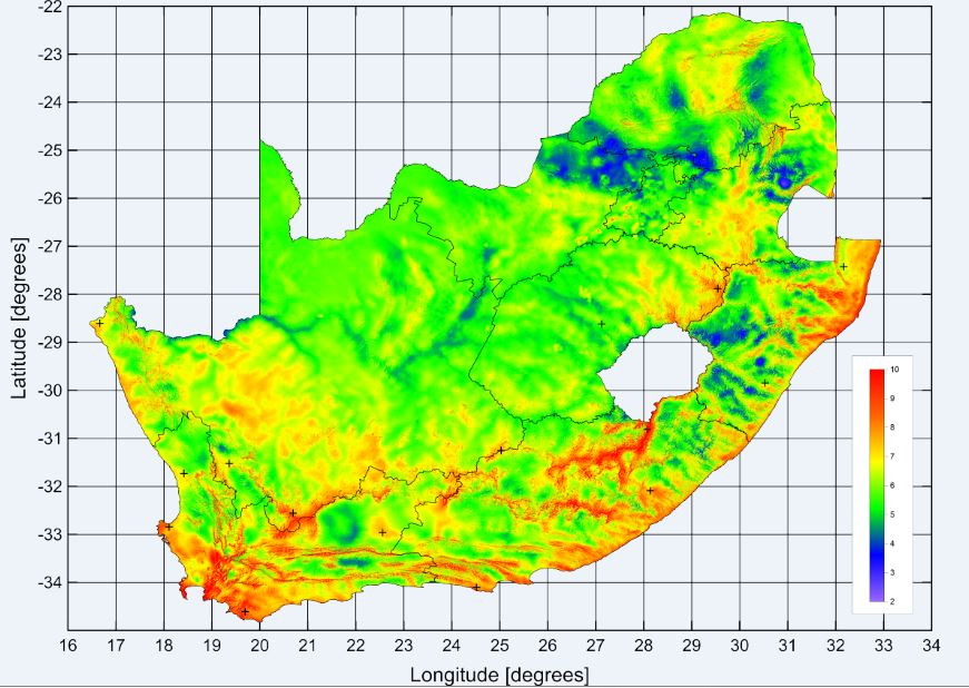 Wind Atlas For South Africa Wasa Sanedi